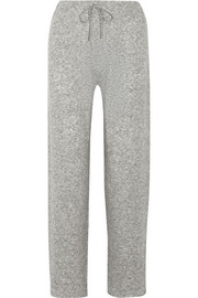Pepita cashmere and silk-blend track pants