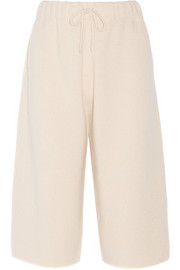 The Row Tita cashmere and silk-blend culottes