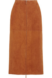 The Row Kima suede skirt