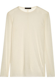 The Row Helene fine-knit cashmere top