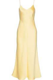 Guinevere silk-satin gown