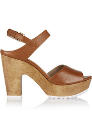 Tiber Too textured-leather platform sandals