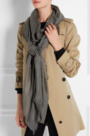 Modal, cashmere and silk-blend scarf