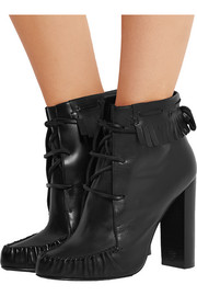 Santa Fe fringed leather ankle boots