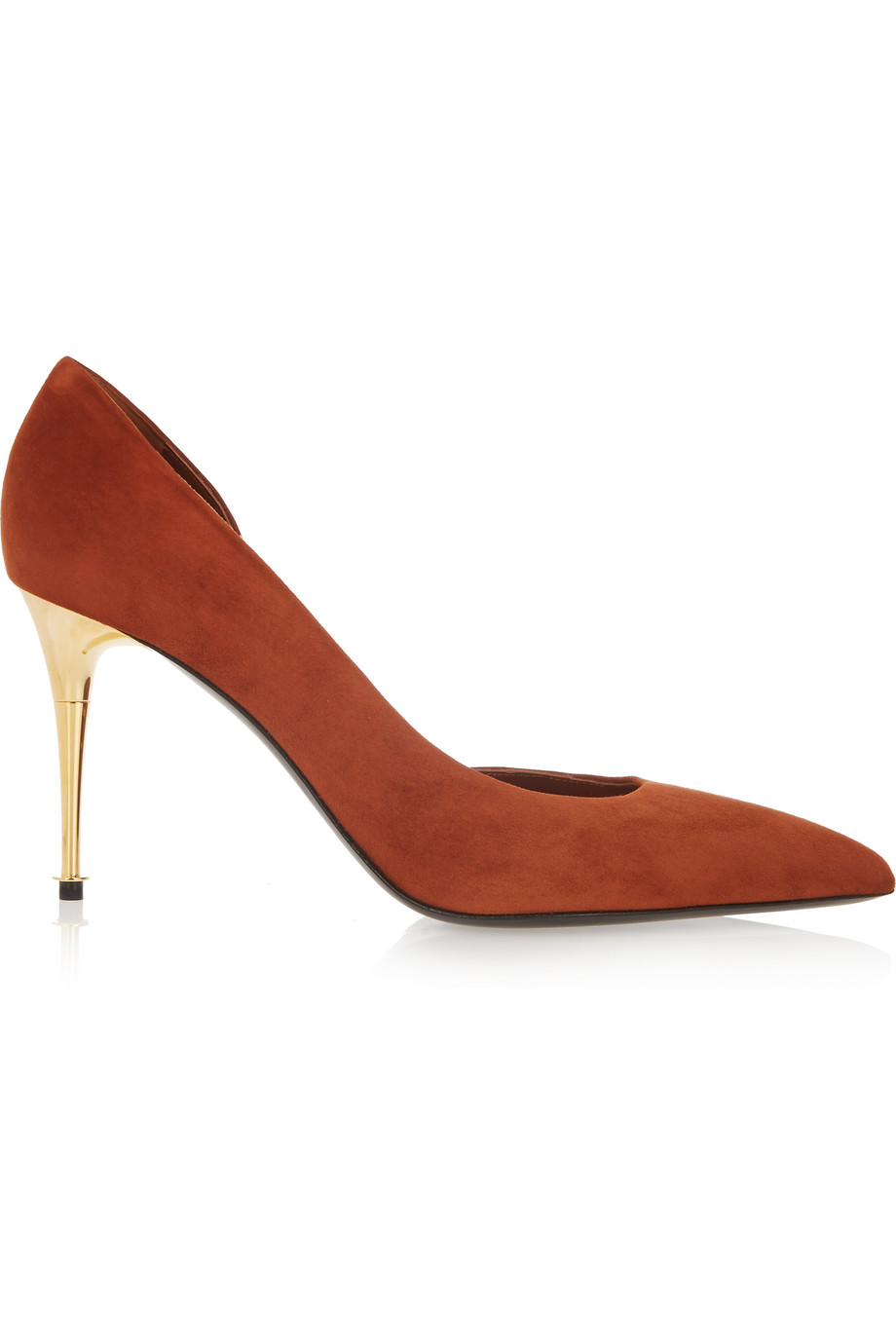 D'orsay Suede Pumps, Brick/Orange, Women's US Size: 4.5, Size: 35