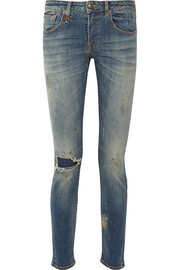 Alison distressed mid-rise skinny jeans