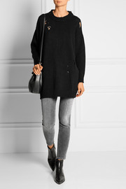 Distressed cashmere sweater
