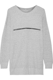 Zip-detailed cotton-terry sweatshirt