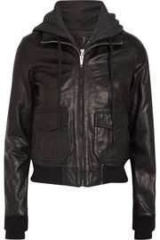 R13 Jersey-lined leather flight jacket