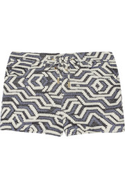 Shelly printed knitted shorts