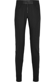 Stretch wool-blend skinny pants