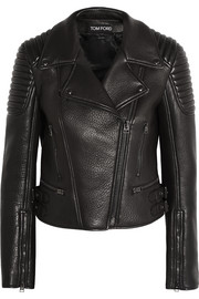 Tom Ford Textured-leather biker jacket