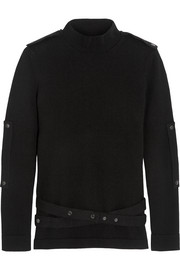 Belted cashmere turtleneck sweater