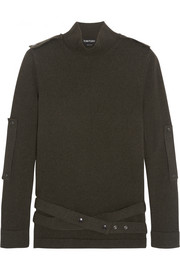 Tom Ford Belted cashmere turtleneck sweater