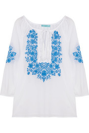 Talitha embroidered voile top