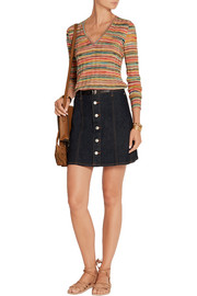Missoni Sofia striped wool-knit top