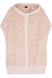 Hooded wool-blend boucl� vest