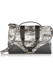 Hanne printed leather shoulder bag