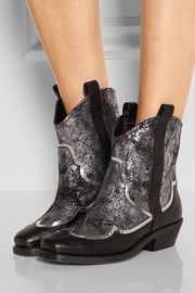 Biboa metallic leather ankle boots