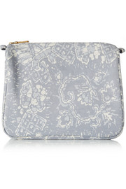 Batik large printed cotton-canvas cosmetics case