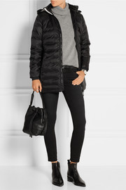 Camp hooded quilted down coat