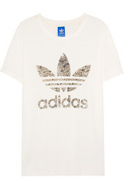 Couture LA sequin-embellished cotton-blend jersey T-shirt
