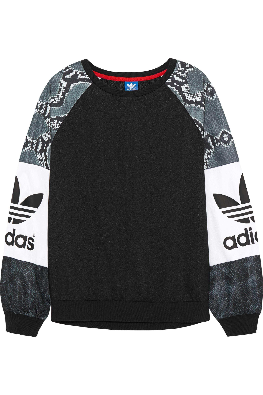 adidas Originals LA printed jersey sweatshirt