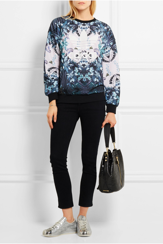 adidas Originals Florera printed jersey sweatshirt