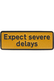 Expect Severe Delays textured-leather adhesive sticker