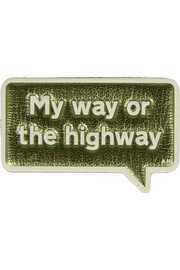 My Way metallic textured-leather adhesive sticker