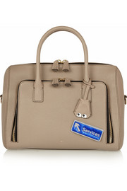 Anya Hindmarch Services metallic textured-leather adhesive sticker