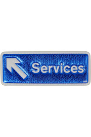 Services metallic textured-leather adhesive sticker