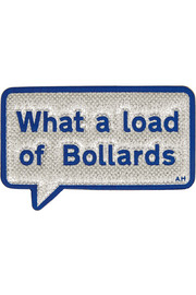 What A Load Of Bollards metallic textured-leather sticker