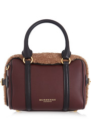 Burberry Shoes & Accessories Shearling and leather tote