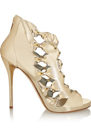Oscar de la Renta Talina metallic leather sandals