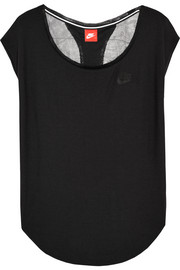 T2 mesh-back jersey top