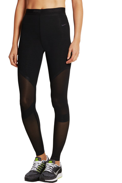 Nike | Dual Sculpture stretch-mesh leggings | NET-A-PORTER.COM
