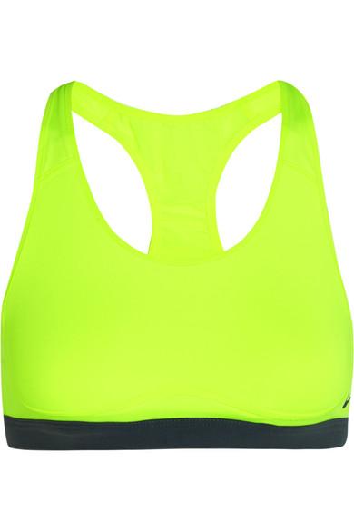 028bc4555de5d Nike. Pro Fierce Dri-FIT neon stretch-jersey sports bra