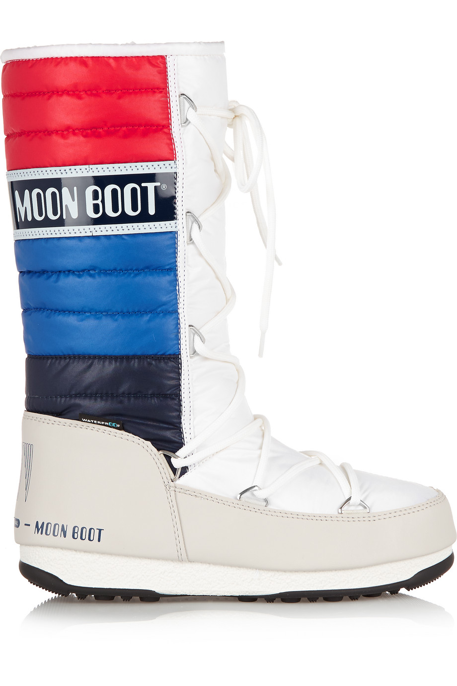 Moon Boot Quilted Shell and Faux Leather Boots, Size: 37