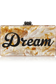 Jean Dream acrylic box clutch