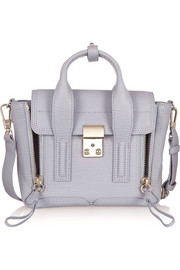 The Pashli mini textured-leather trapeze bag