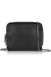 Soleil mini textured-leather shoulder bag