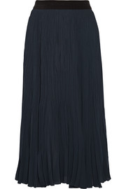 Braylon pleated chiffon skirt
