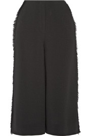 Elizabeth and James Presli fringed crepe culottes