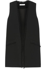 Elizabeth and James Hanover fringed crepe vest