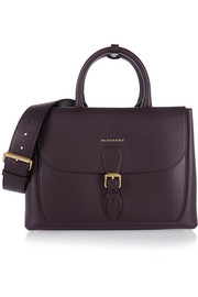 London medium leather tote