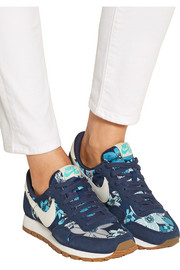 Nike Air Pegasus 83 suede and printed shell sneakers