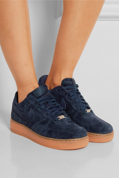nike air force 1 low suede bleu marine