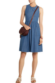 Cotton-chambray dress