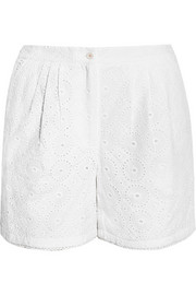 Broderie anglaise cotton shorts